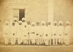 Christian converts under the instruction of Rev. J. Symonds, Madras